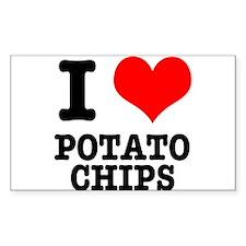 I Heart (Love) Potato Chips Decal