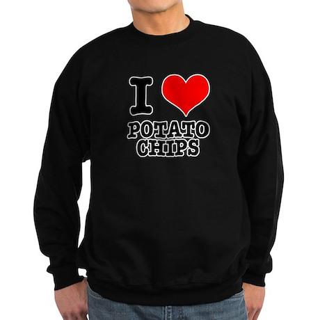 I Heart (Love) Potato Chips Sweatshirt (dark)