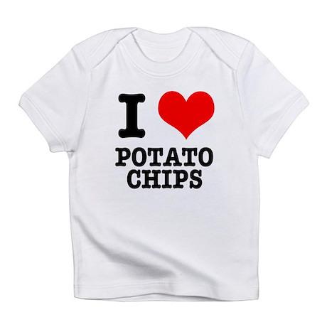 I Heart (Love) Potato Chips Infant T-Shirt