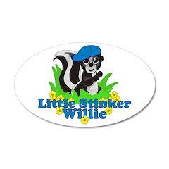 Little Stinker Willie 38.5 x 24.5 Oval Wall Peel