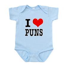 I Heart (Love) Puns Infant Bodysuit