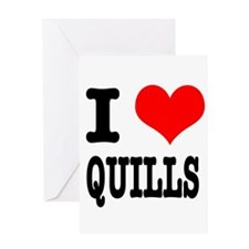 I Heart (Love) Quills Greeting Card