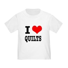 I Heart (Love) Quilts T