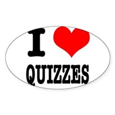 I Heart (Love) Quizzes Decal