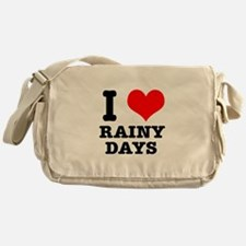 I Heart (Love) Rainy Days Messenger Bag