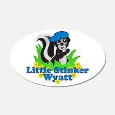 Little Stinker Wyatt 22x14 Oval Wall Peel