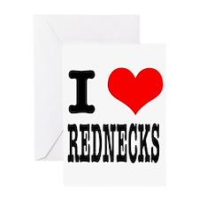 I Heart (Love) Rednecks Greeting Card
