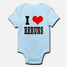 I Heart (Love) Reruns Infant Bodysuit