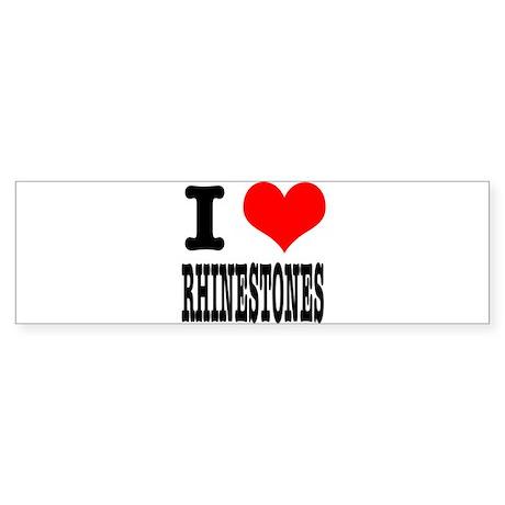 I Heart (Love) Rhinestones Sticker (Bumper)