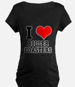 I Heart (Love) Roller Coaster T-Shirt