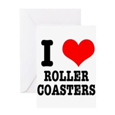 I Heart (Love) Roller Coaster Greeting Card