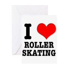 I Heart (Love) Roller Skating Greeting Card