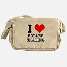 I Heart (Love) Roller Skating Messenger Bag