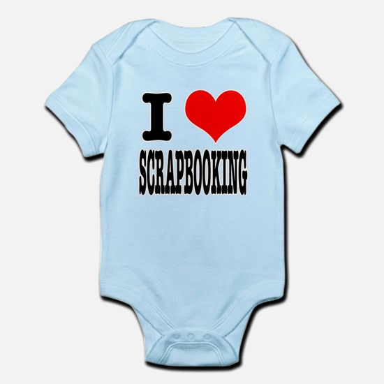 I Heart (Love) Scrapbooking Infant Bodysuit