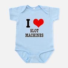 I Heart (Love) Slot Machines Infant Bodysuit
