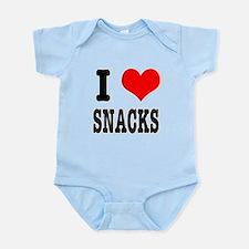 I Heart (Love) Snacks Infant Bodysuit