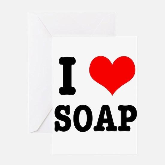 I Heart (Love) Soap Greeting Card