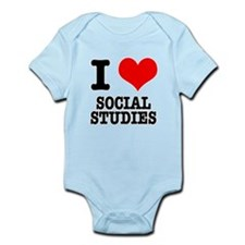 I Heart (Love) Social Studies Infant Bodysuit