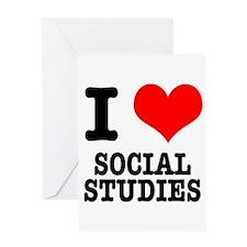 I Heart (Love) Social Studies Greeting Card