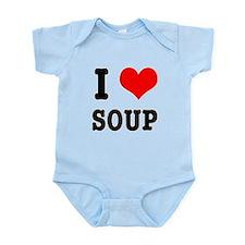I Heart (Love) Soup Infant Bodysuit