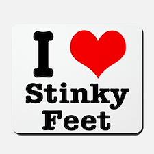 I Heart (Love) Stinky Feet Mousepad