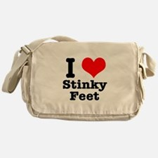 I Heart (Love) Stinky Feet Messenger Bag
