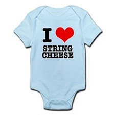 I Heart (Love) String Cheese Infant Bodysuit