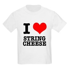 I Heart (Love) String Cheese T-Shirt