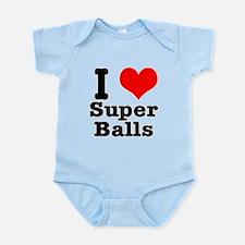 I Heart (Love) Super Balls Infant Bodysuit