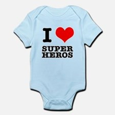 I Heart (Love) Super Heros Onesie