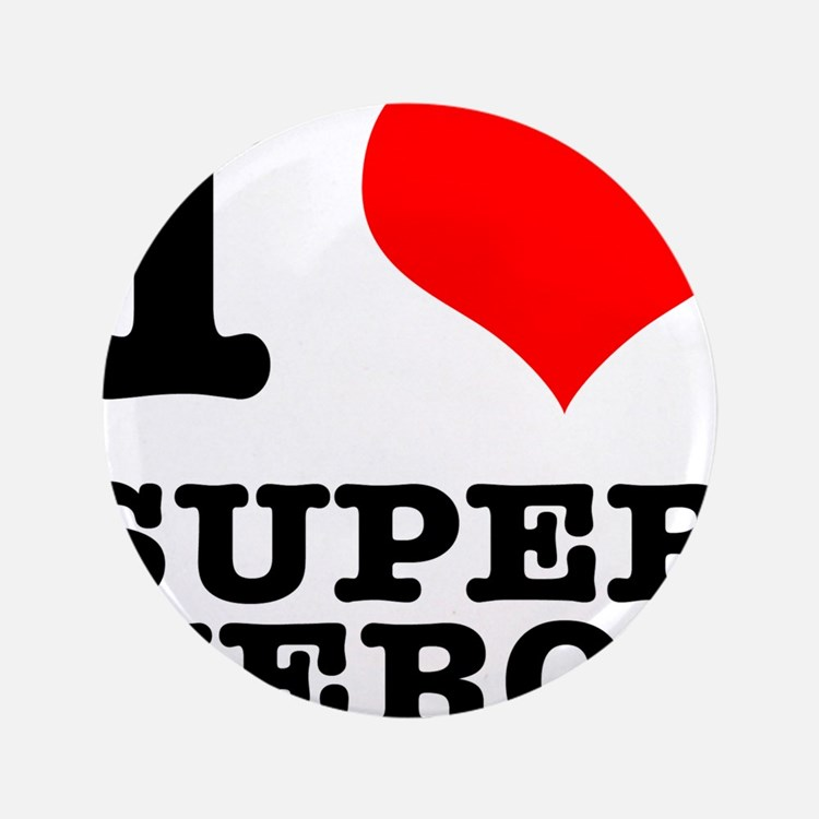"I Heart (Love) Super Heros 3.5"" Button (100 p"