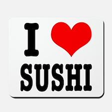 I Heart (Love) Sushi Mousepad