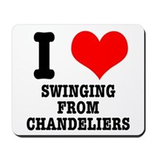 I Heart (Love) Swinging from Mousepad