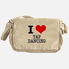 I Heart (Love) Tap Dancing Messenger Bag