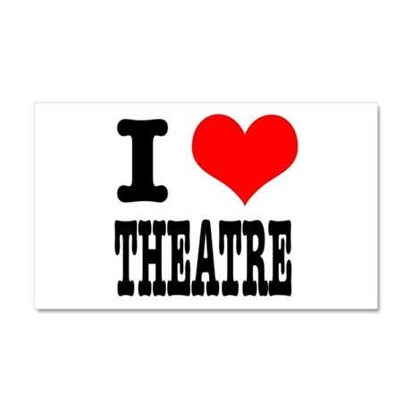 I Heart (Love) Theatre Car Magnet 20 x 12