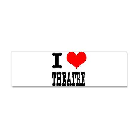 I Heart (Love) Theatre Car Magnet 10 x 3