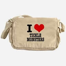 I Heart (Love) Tickle Monster Messenger Bag