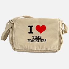 I Heart (Love) Time Machines Messenger Bag
