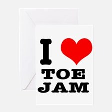 I Heart (Love) Toe Jam Greeting Card