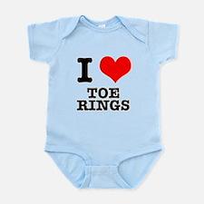 I Heart (Love) Toe Rings Infant Bodysuit