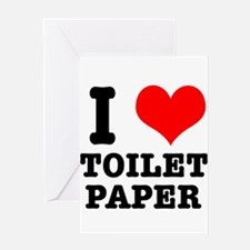 I Heart (Love) Toilet Paper Greeting Card