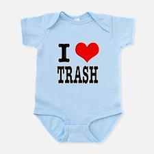 I Heart (Love) Trash Infant Bodysuit