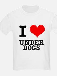 I Heart (Love) Under Dogs T-Shirt