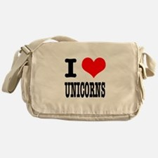 I Heart (Love) Unicorns Messenger Bag