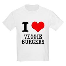 I Heart (Love) Veggie Burgers T-Shirt
