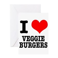 I Heart (Love) Veggie Burgers Greeting Card