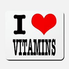 I Heart (Love) Vitamins Mousepad