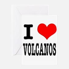 I Heart (Love) Volcanos Greeting Card