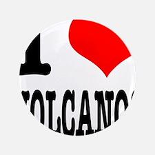 "I Heart (Love) Volcanos 3.5"" Button (100 pack"
