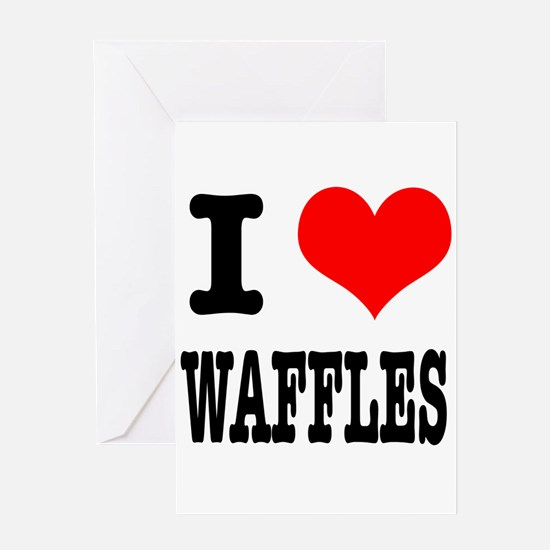 I Heart (Love) Waffles Greeting Card